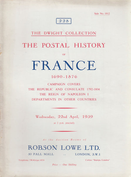 84946 - FRANCE: Robson Lowe auction catalogue April 1959 -...