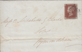 85082 - PL.12 (IJ)(SG8) ON COVER. 1841 letter Norwich to Wymondham...