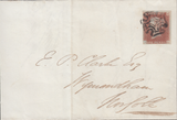 85125 - PL.13 (IL)(SG8) USED ON COVER. 1841 letter to Wymo...