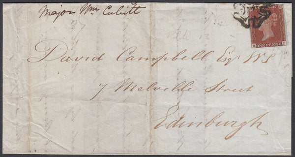 85127 - PL.13 (RC)(SG8) ON COVER. 1841 letter used lo...