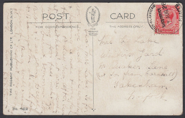 85176 - HANTS. 1928 postcard to Norfolk with KGV 1d cancel...
