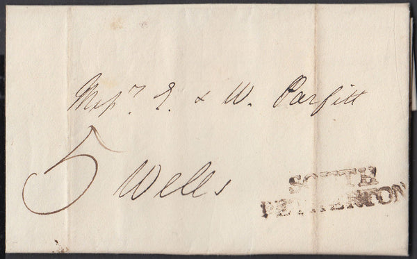 85424 - SOMERSET. 1820 letter South Petherton to Wells dat...
