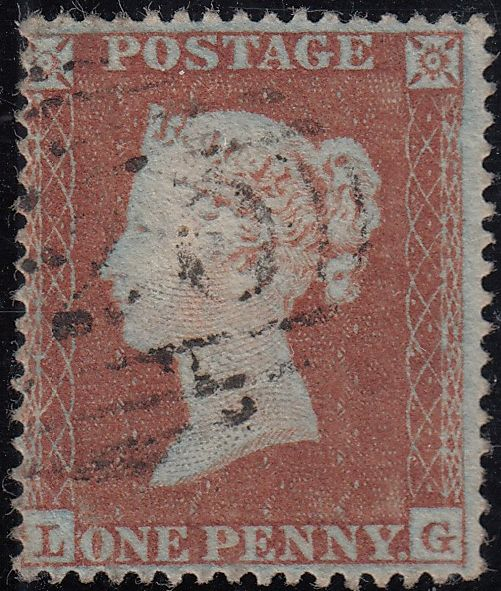85757 - 1852/54 PL.157 MATCHED PAIR 1d IMPERF (SG8) AND 1D PERF (SG17) LETTERED LG.