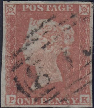 85759 -1D PL.157 MATCHED TRIO OF 1852 1D IMPERF x 2 (SG8) AND ...