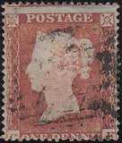 85774 PL.157 MATCHED PAIR 1852 1D IMPERF (SG8) AND 1854 1D PERF (SG17) LETTERED CK.