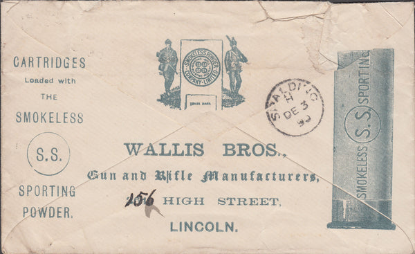 86219 - ADVERTISING/LINCOLNSHIRE. 1890 envelope Lincoln to...