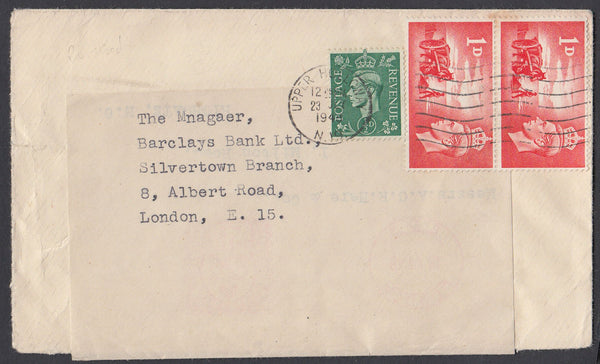86249 - 1948 envelope (re-used) used locally in London wit...