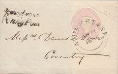 86636 - LEICS/APPLEBY PENNY POST(LC2). 1845 1d pink front and side flap to Coventr...