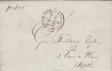 86645 - BRISTOL CATHAY UDC. 1846 letter Cathay to Bath with postage p...