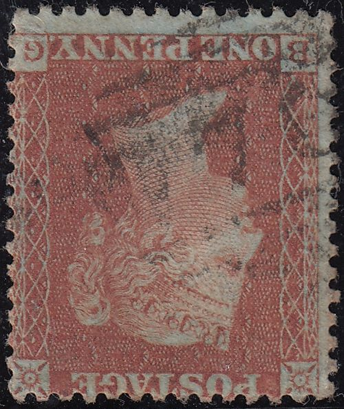 86722 - 1855 DIE 2 PL.1 MATCHED PAIR LETTERED BG BOTH S.C....