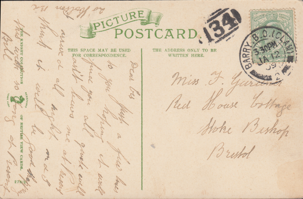 "86731 - THE ""134"" 1844 TYPE BARRED NUMERAL OF BRISTOL USED..."