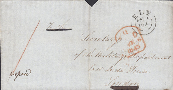 86904 - CAMBS. 1843 wrapper (seal cut away and one side fl...
