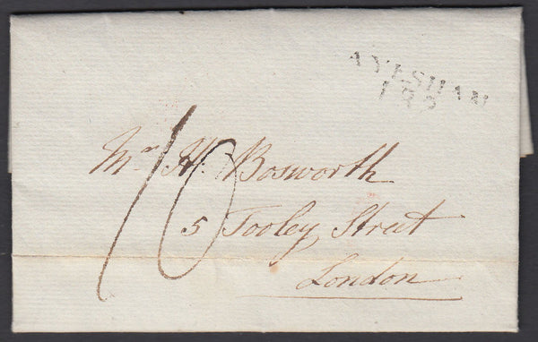 86906 - NORFOLK. 1829 entire Hanworth Vicarage nr Aylsham ...