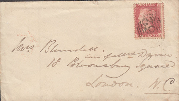 87102 - 1858 DROITWICH SCOTTISH TYPE DATE STAMP.  Envelope D...