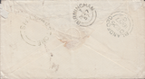 87109 - 1857 MAIL BLANDFORD TO BIRMINGHAM/'SHILLINGSTONE' UDC/'BIRMINGHAM' DISTINCTIVE DATE STAMP (20mm). Envelope Blandford to Birm...