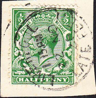 87351 - 1928 LIVERPOOL LATE FEE. KGV ½d on small piece tie...