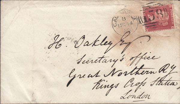 87526 - CAMBS. 1859 envelope (some soiling) Cambridge to K...