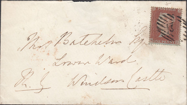 87612 - 1850 1D PL.93 ARCHER EXPERIMENTAL PERFORATION (SG16b)(NF) USED ON 1850 MAIL LONDON TO WINDSOR CASTLE.