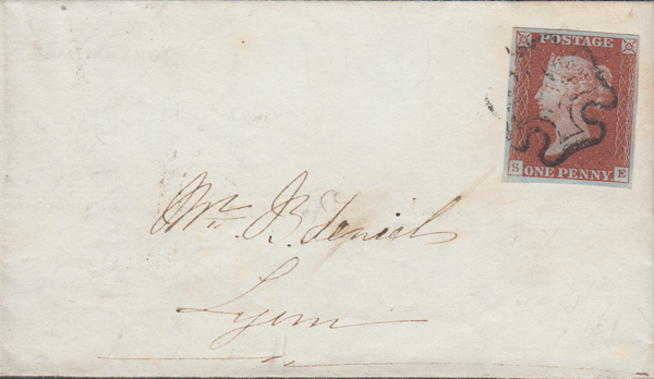 87707 - ELY MALTESE CROSSES (CAMBS). 1844 large part wrapper Ely to ...