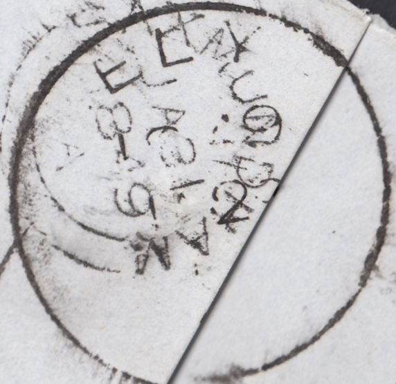 87727 - 1849 CAMBS/'ELY' TEMPORARY DATE STAMP (35mm). Wrapper (one f...