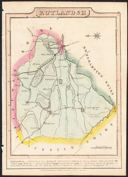 87743 - RUTLAND. A good map by J Wallis produced for his 1...
