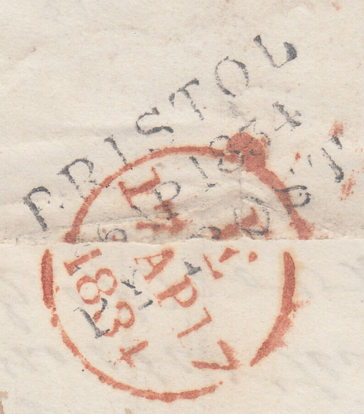 88070 - BRISTOL. 1834 letter Bristol to London. On front f...