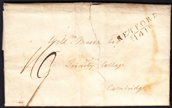 88137 - NOTTS. 1804 letter Eaton to Trinity College, Cambr...