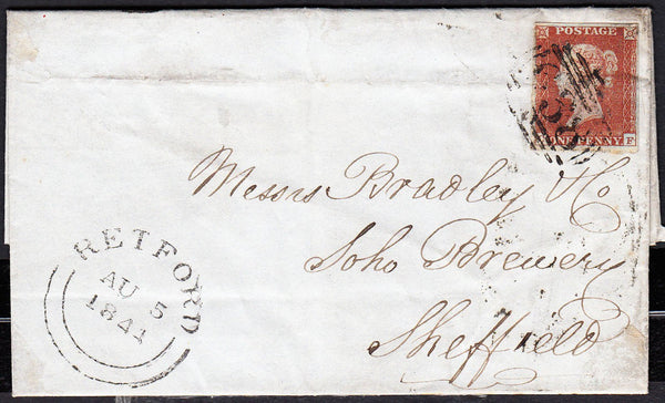 88145 - NOTTS. 1844 letter Retford to a brewery in Sheffie...