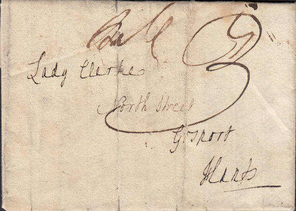 88147 - CAMBS/'ELY' HAND STAMP (CB95). Undated personal letter from a brother to a...