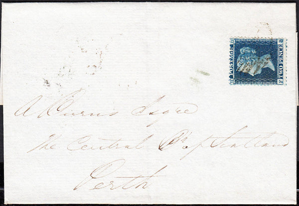 88180 - PL.4 S.C.14 (SG23) (FB) ON COVER (Cat.£375). 1855 ...