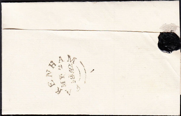 88337 - NORFOLK. 1842 letter Fakenham to Wymondham, Norfol...