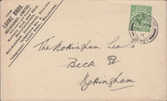 88539 - DERBYS/ADVERTISING. 1911 envelope Melbourne, Derby...