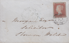 88749 - GLOS/PL.91 (PK) (SG8). 1849 envelope (opened out) ...