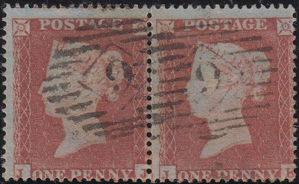 88812 - PL.173 (JJ JK) STATE TWO (SG17). Good used 1854 1d...