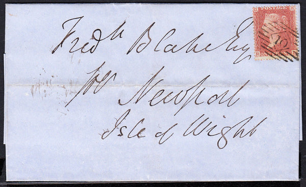 88842 - PL.11 (RH) (SG21). 1855 wrapper London to Newport,...