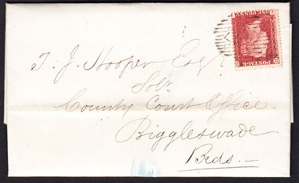 88854 - 1858 DIE II PL.47 (LL) PERFORATION 16 (SG36) USED ON COVER. 1858 entire Lond...