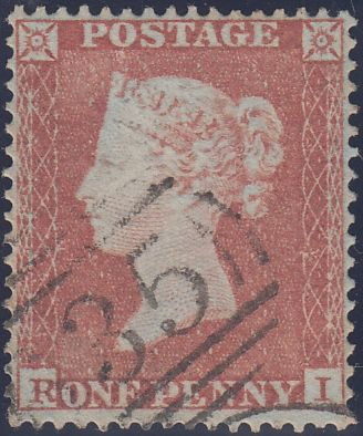 88895 - PL.176 (RI) STATE ONE (SG17). Good used 1854 1d pl...
