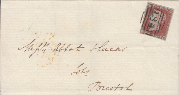 88930 - BRISTOL HENBURY UDC/PL.150 (KE)(SG8). 1855 wrapper used local...