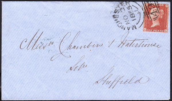 89000 - PL.4 (AG) (Spec.C6). 1855 envelope Manchester to S...