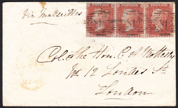 "89052 - CRIMEAN USAGE/LONDON TRIPLE ""48"" NUMERAL/1D PL.3 (..."