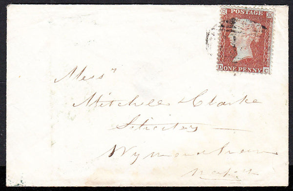 89057 - PL.14 (DC) (SPEC.C6). 1856 envelope to Wymondham w...
