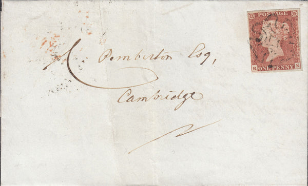 89242 - 1842 CAMBS/ELY MALTESE CROSS/PL.12 (RK)(SG9). 1842 large part wrapper El...