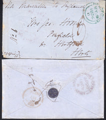 89297 - CRIMEAN WAR/WAFER SEAL. 1856 envelope from the Cri...