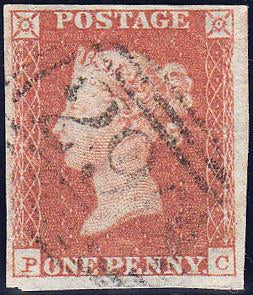 89370 - PL.101 (PC)(SG8). Good used 1850 1d pl.101 (SG8)