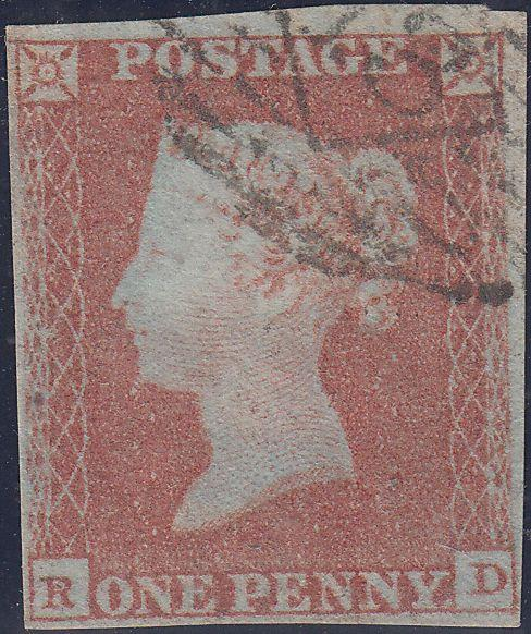 89643 - PL.112 (OF)(SG8a VERY BLUED PAPER). Good used 185...