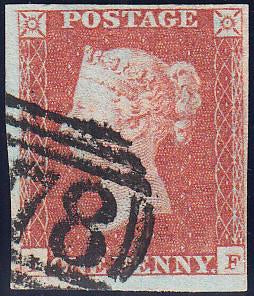 89601 - PL.86 (IF) (SG8). Good used 1848 1d pl.86 lettered...