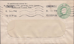 89682 - 1913 ADVERTISING/TOOLS. KGV window envelope with ½...
