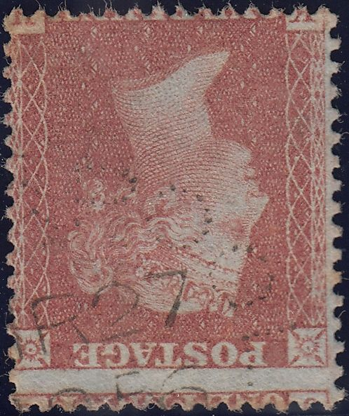 89691 - 1856 LIVERPOOL DOTTED CIRCLE CANCELLATION.