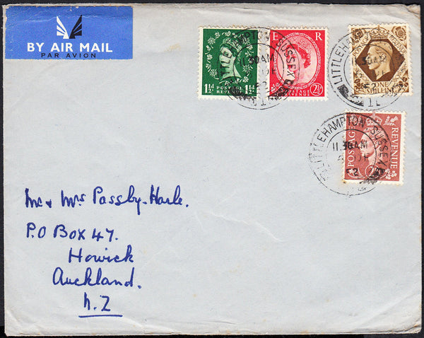 89728 - 1952 envelope Littlehampton to Auckland with KGVI ...