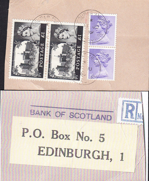89820 - BANKERS' SPECIAL PACKET. 1969 parcel tag (part tri...